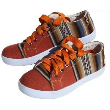 La chaussure des Incas couleur brique