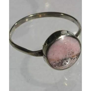 Anneau avec pierre quartz rose