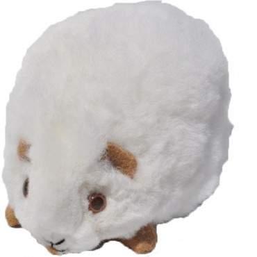 Peluche cochon d'inde blanc