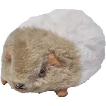 Peluche cochon d'inde blanc et beige