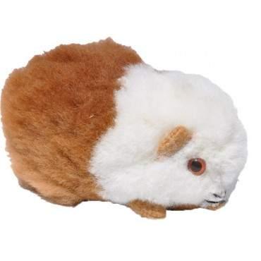 Peluche cochon d'inde blanc roux