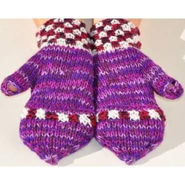 Moufles mitaines violet