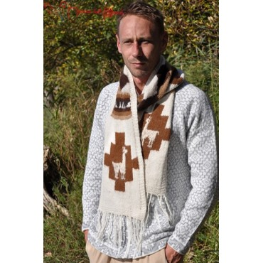 Foulard péruvien en laine