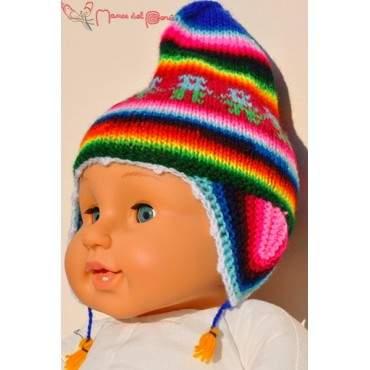 Chullo - bonnet péruvien pour bébé