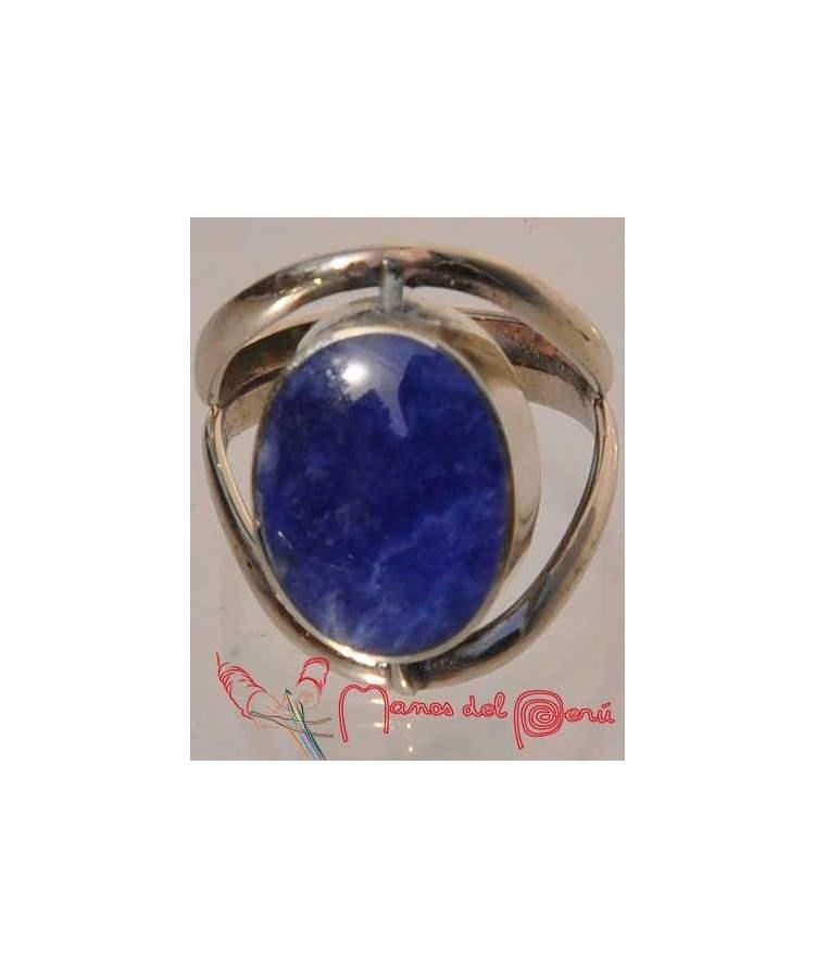 Bague réglable lapis-lazuli et turquoise