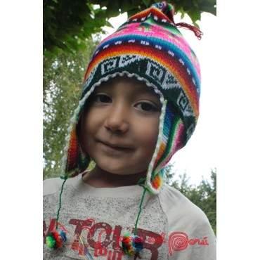 Bonnet péruvien multicolore