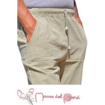 Pantalon péruvien vert kaki