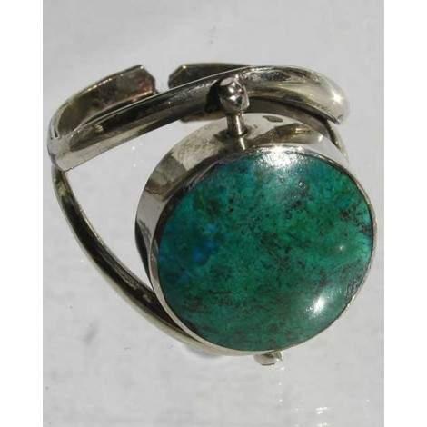 Bague onyx-turquoise