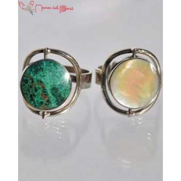 Bague turquoise-nacre