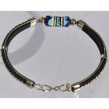 Bracelet cuir  et ornée