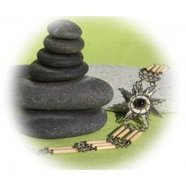Bracelet en bambou et corne