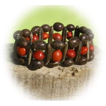 Bracelet élastique en graines