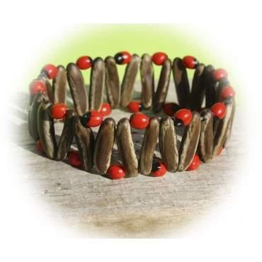 Bracelet élastique en graines Huayruro