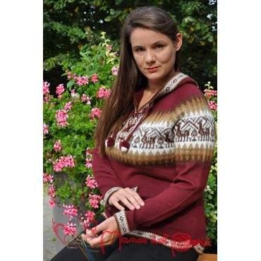 Pull peruvien en laine soyeux et confortable