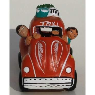 Taxi de la cordillère des Andes rouge