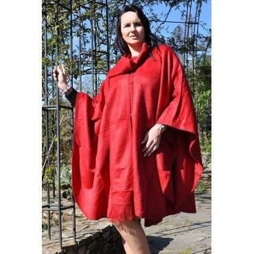 Manteau cape rouge indien