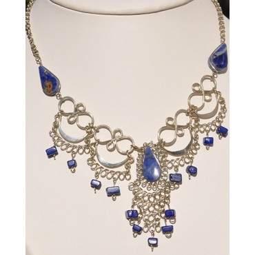 Authentique collier des Andes pierre lapis-lazuli