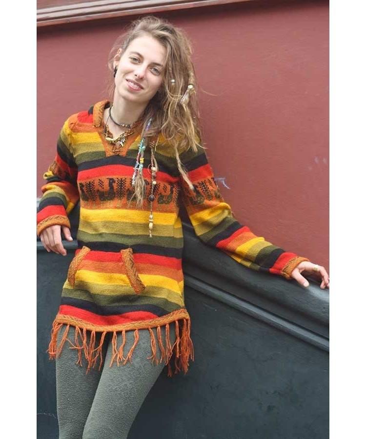 Pull couleurs rasta