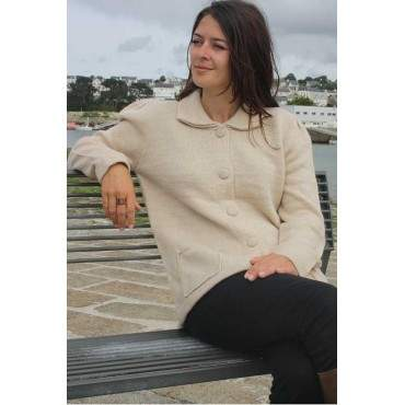 Cardigan ouvert beige clair