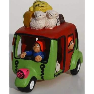 Taxi-Chola péruvien en céramique