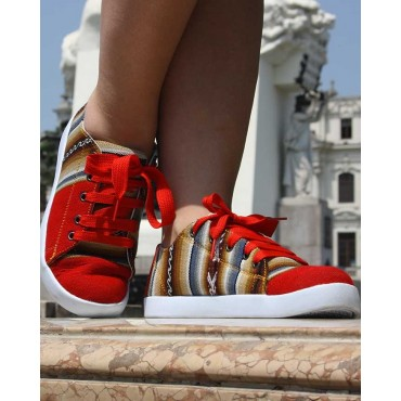 La chaussure des Incas rouge