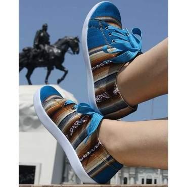 La chaussure des Incas blue ciel