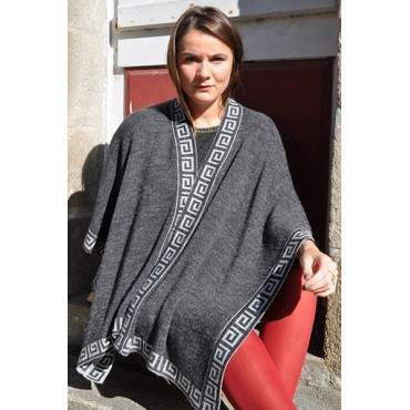 Cape gris anthracite reversible