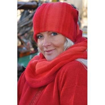 Echarpe bonnet rouge des Andes