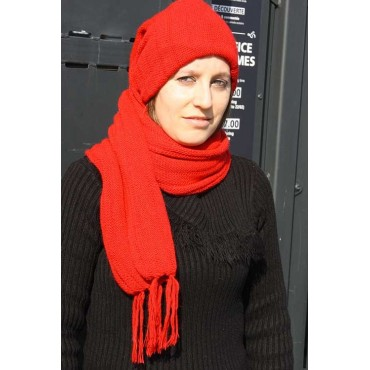 Echarpe bonnet rouge