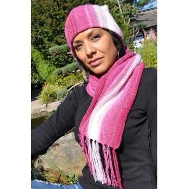 Echarpe bonnet rose