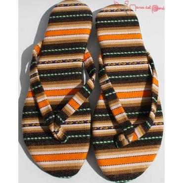 Sandales inca marron orange