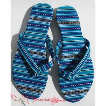 Sandales inca bleu