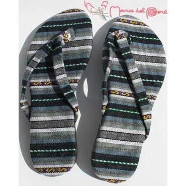 Sandales inca gris