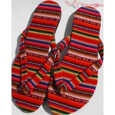 Sandales inca arco iris