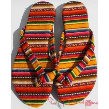 Sandales inca jaune