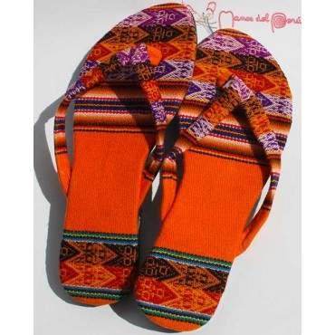 Sandales inca orange