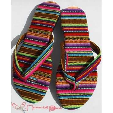 Sandales Aymara arc en ciel